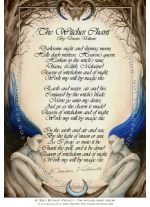 Doreen Valiente Poster - The Witches Chant